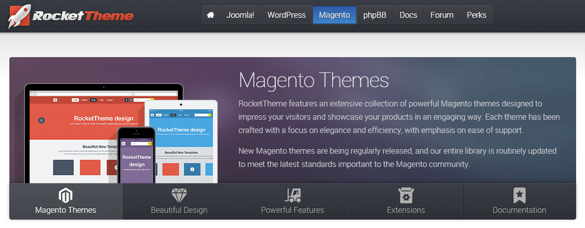 Magento Themes, templates and marketplaces