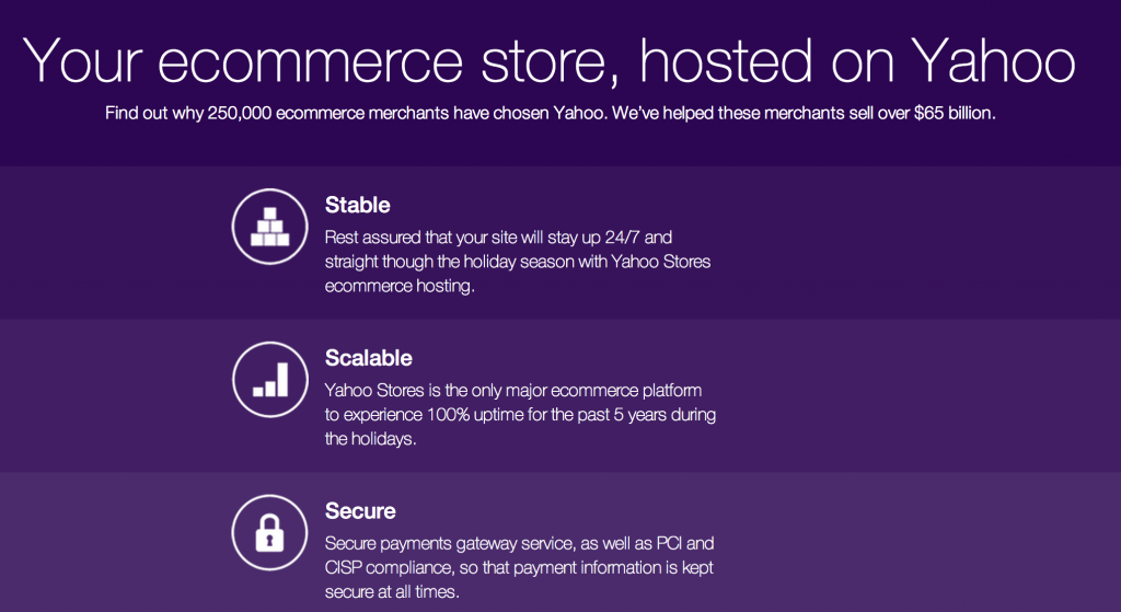 Yahoo stores redesigned saas ecommerce platform by yahoo for Yahoo ecommerce templates