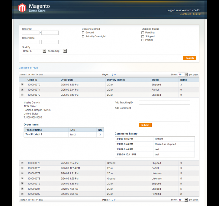 Drop Shipping Magento Extension