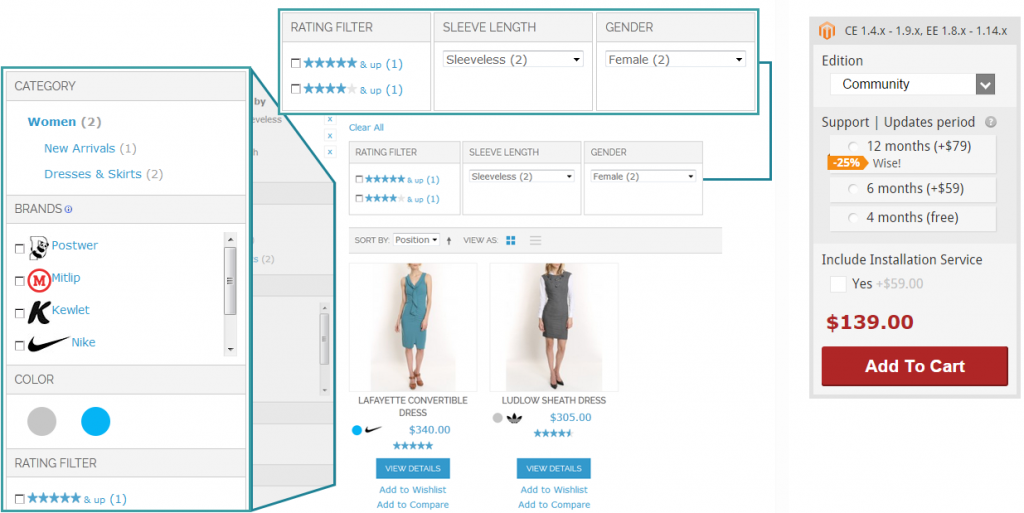 Improved Layered Navigation Magento Extension by Amasty