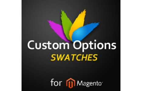 custom options swathes magento