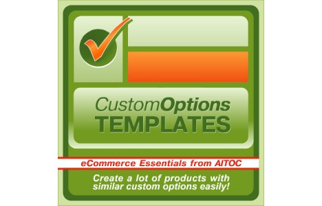 custom options template magento