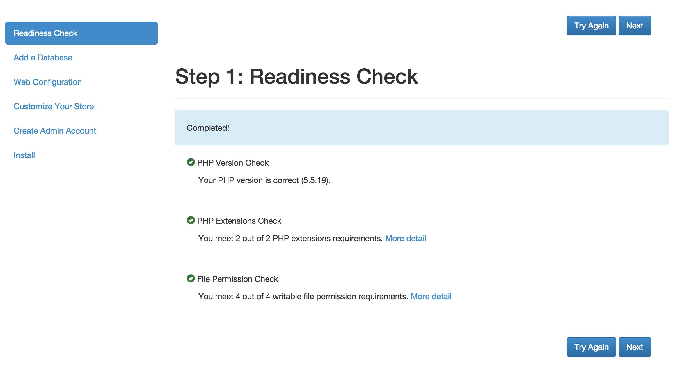 Magento Readiness Check