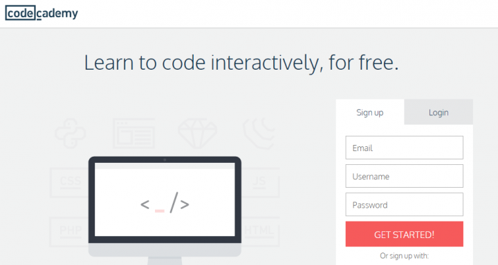 Online courses by Codecademy
