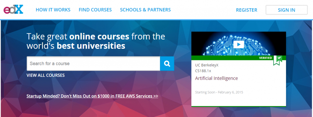 Coding courses by EdX