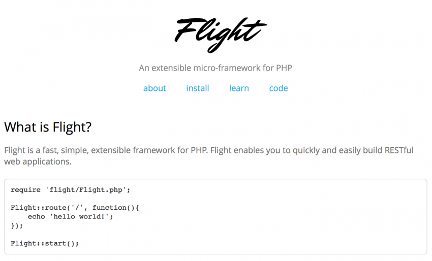 Flight-PHP-best-php-frameworks