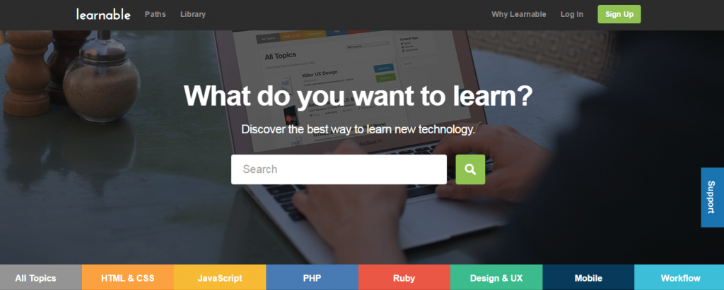 Coding courses by Learnable