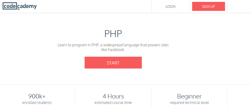 PHP course by Codecademy