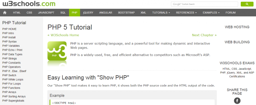 Learn Php With W3schools Pdf