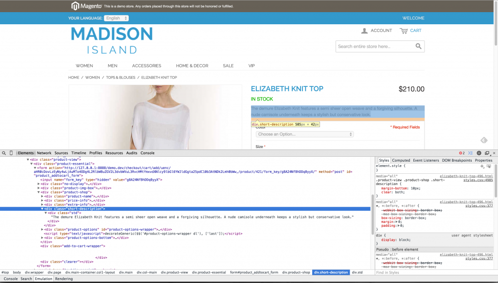 inspect-element-chrome-improved-configurable-product-short-description