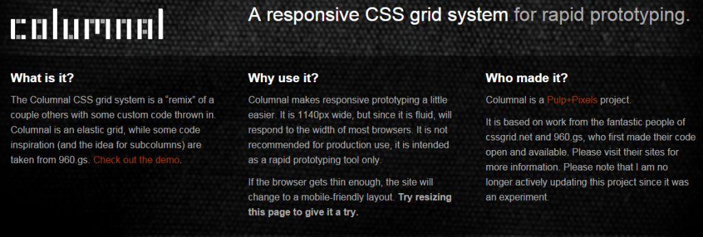 The best css frameworks and grid systems firebear css framework columnal malvernweather Images