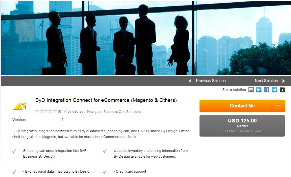 Systems Applications Products (SAP) integration with Magento