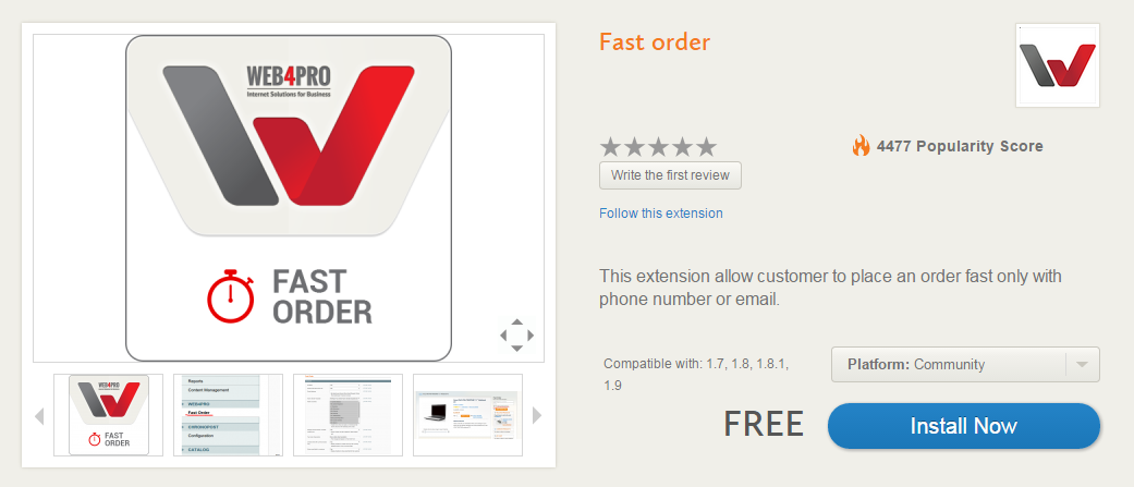 Fast Order Magento Extensions