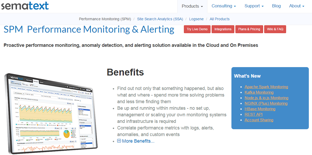 Software for application and server monitoring