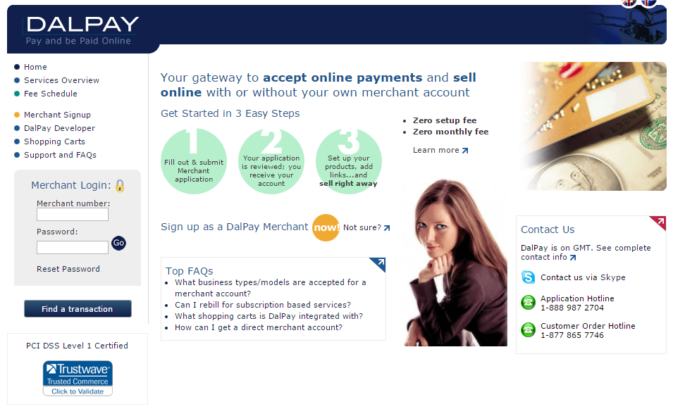 Online payment services, gateways, merchant accounts, e-commerce solutions