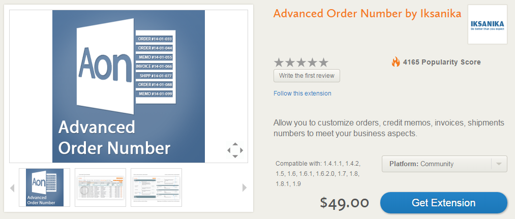 Advanced Order Management, Invoicing, Shipping, Custom Order Statuses with Advanced Order Number by Iksanika