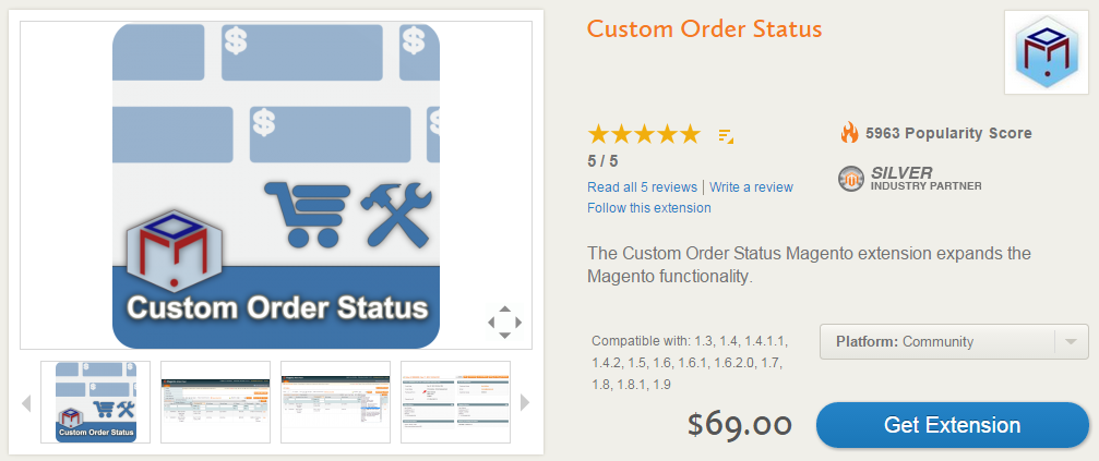 Advanced Order Management, Invoicing, Shipping, Custom Order Statuses with Custom Order Status Magento Extension