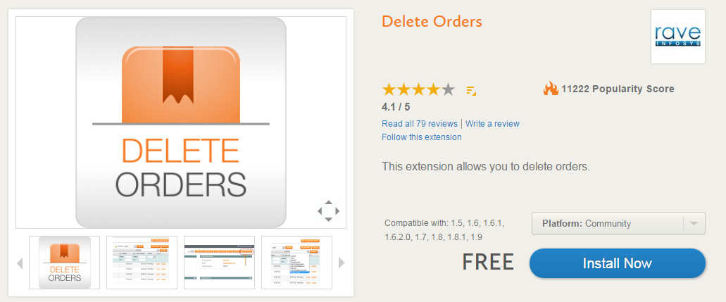 Advanced Order Management, Invoicing, Shipping, Custom Order Statuses with Delete OrdersDelete Orders Magento Extension
