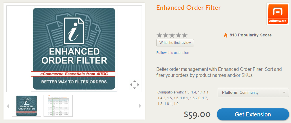 Advanced Order Management, Invoicing, Shipping, Custom Order Statuses with Enhanced Order Filter Magento Extension