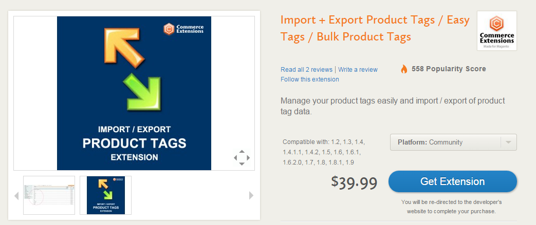 Product Tags in Magento