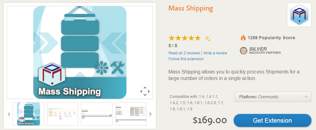 Advanced Order Management, Invoicing, Shipping, Custom Order Statuses with Mass Shipping Magento Extension