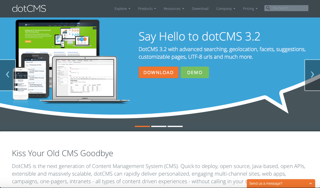 Java-based content management systems: DotCMS