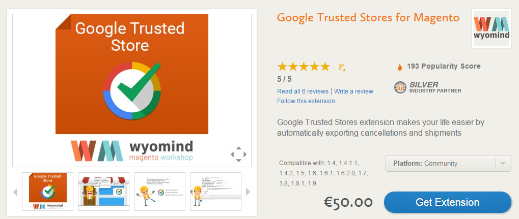 Google Trusted Stores Magento Integration