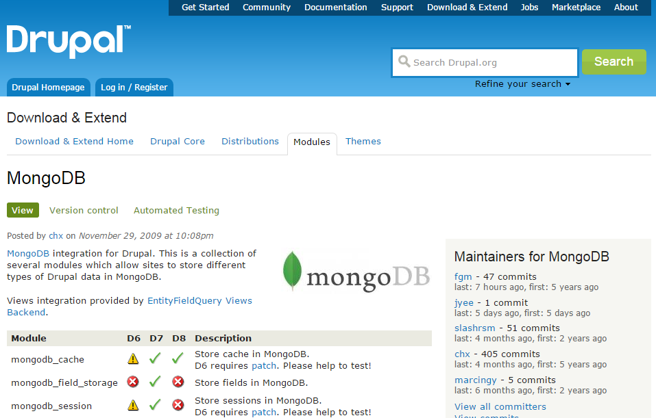 MongoDB tutorial: CMS; ecommerce; Magento; PHP