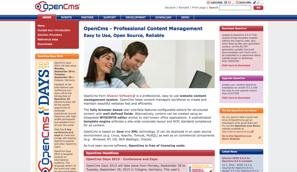 Java-based content management systems: OpenCMS