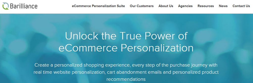Barilliance - a tool for ecommerce personalization