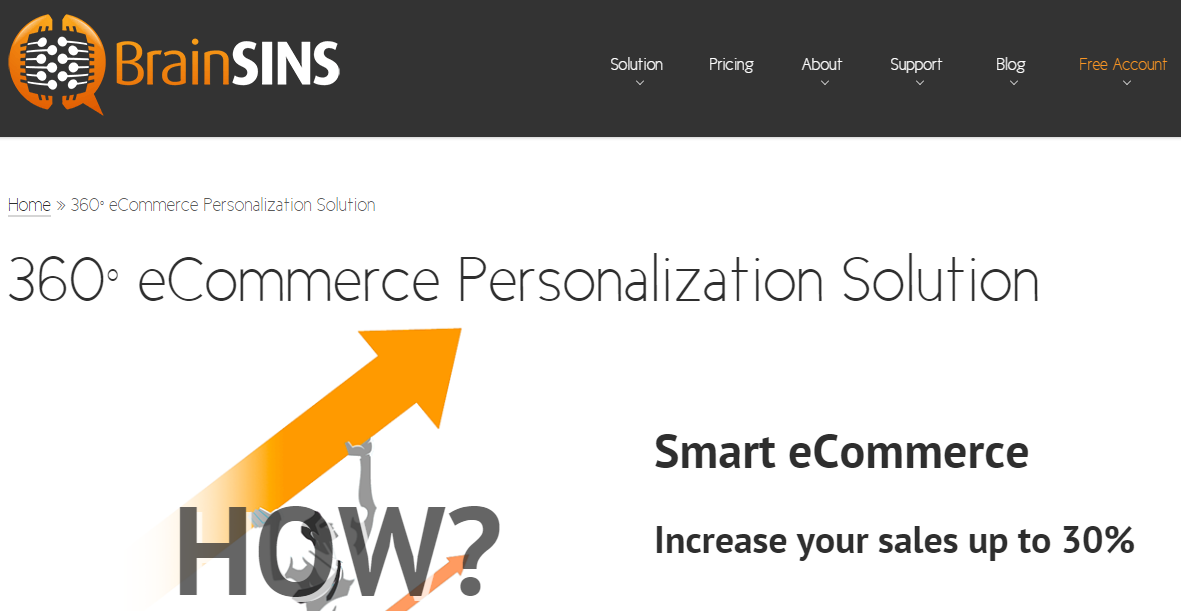 the power of ecommerce personalization with Brainsins