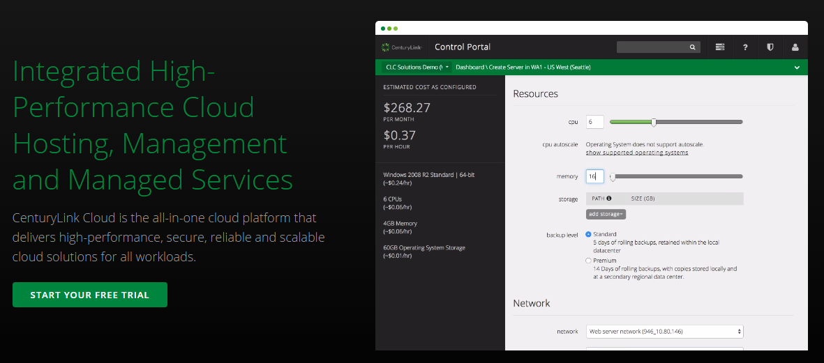 CenturyLink - all-in-one cloud platform for Docker