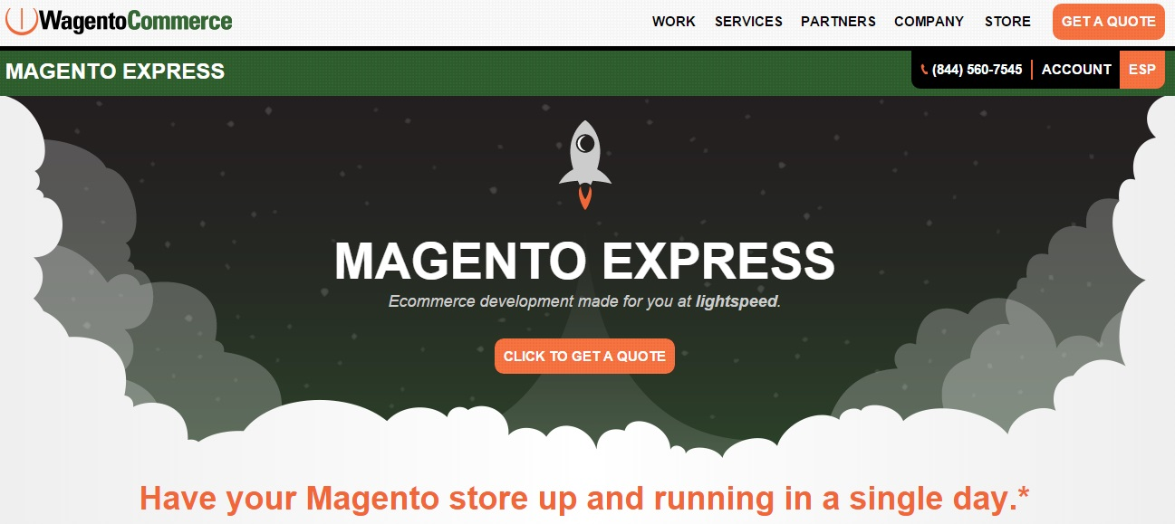 Magento development companies: Magento Express by Wagento Commerce