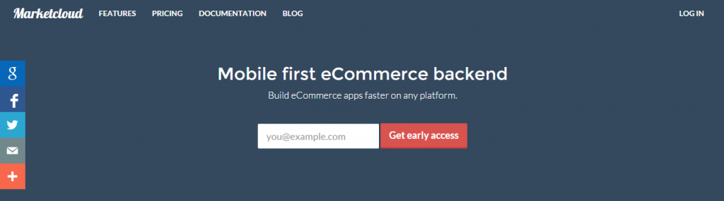 Node.js ecommerce with Marketcloud
