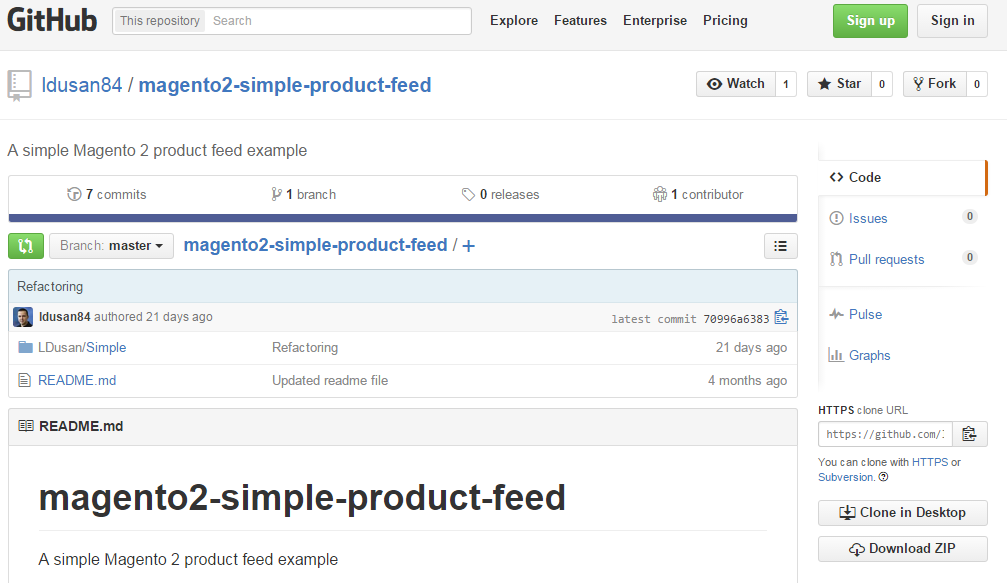 Simple Product Feed for Magento 2