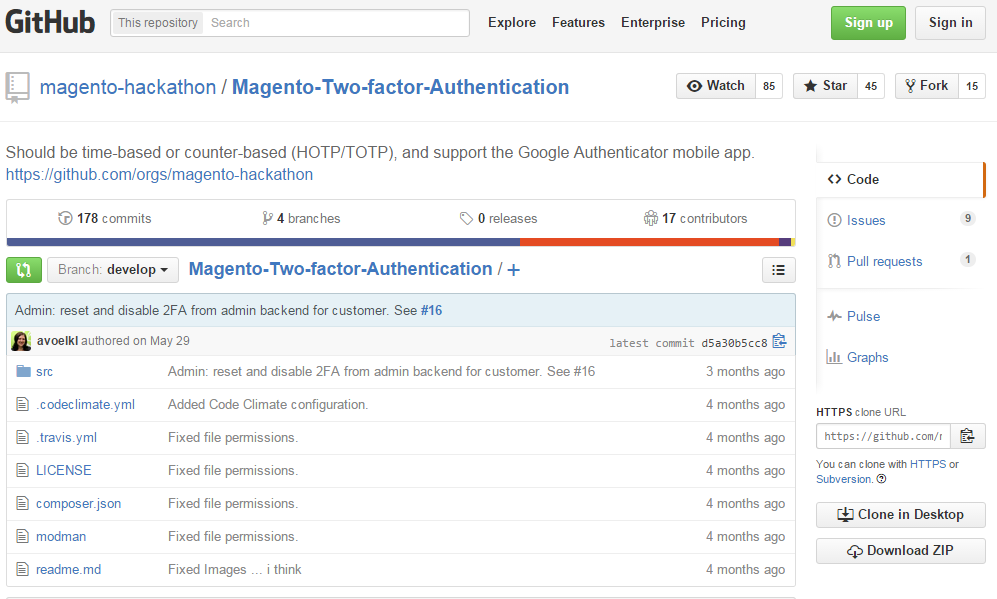Magento hackathon project: Two-Factor-Authentication for Magento