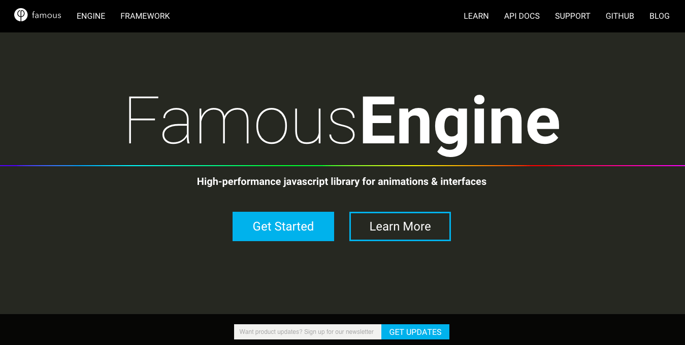Tools for Hybrid Application Development: Famo.us