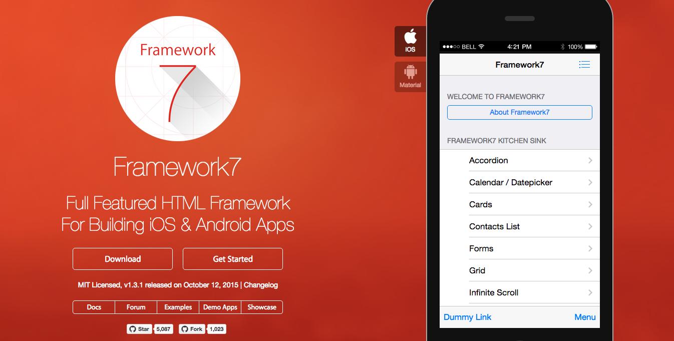 Tools for Hybrid Application Development: Framework 7