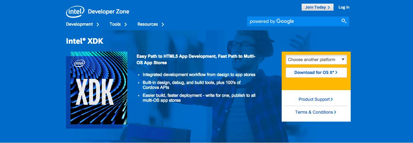 Tools for Hybrid Application Development: Intel XDK