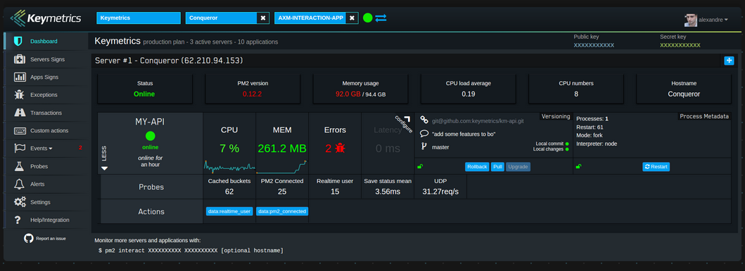 Node.js Application Monitoring Tool with Keymetrics