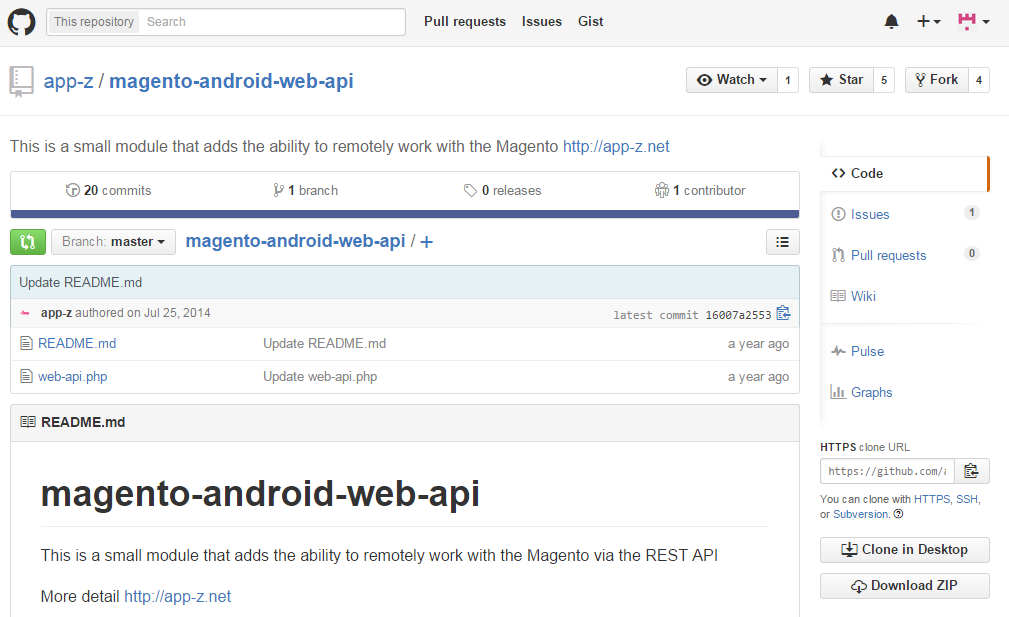 Android API Wrapper for Magento