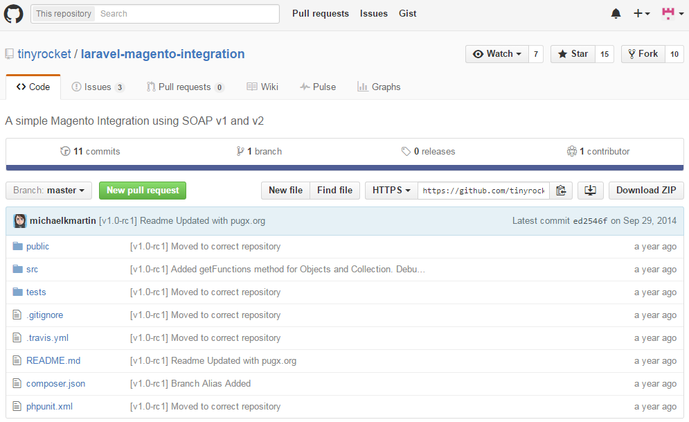 Magento API Wrappers: Magento Laravel integration