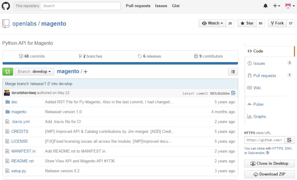 Magento API wrapper for Python