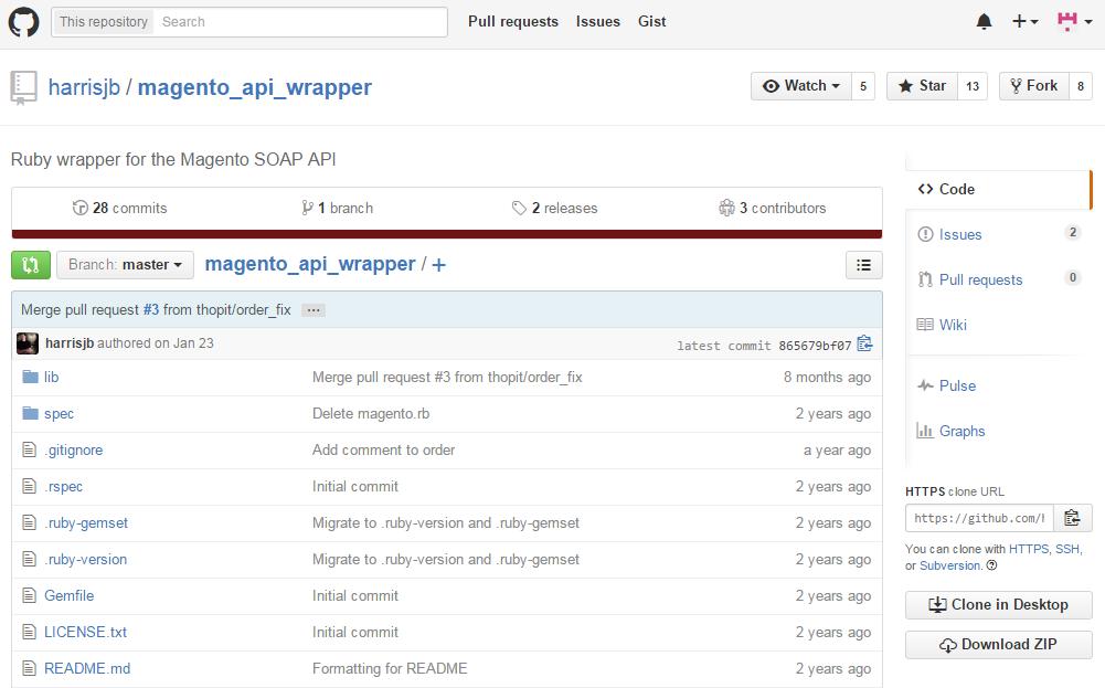 SOAP API wrapper for Magento