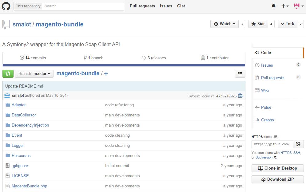 MagentoBundle - API wrapper for Magento