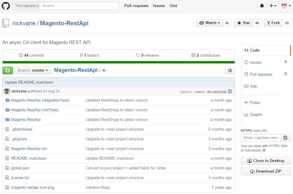 Magento Rest API wrapper