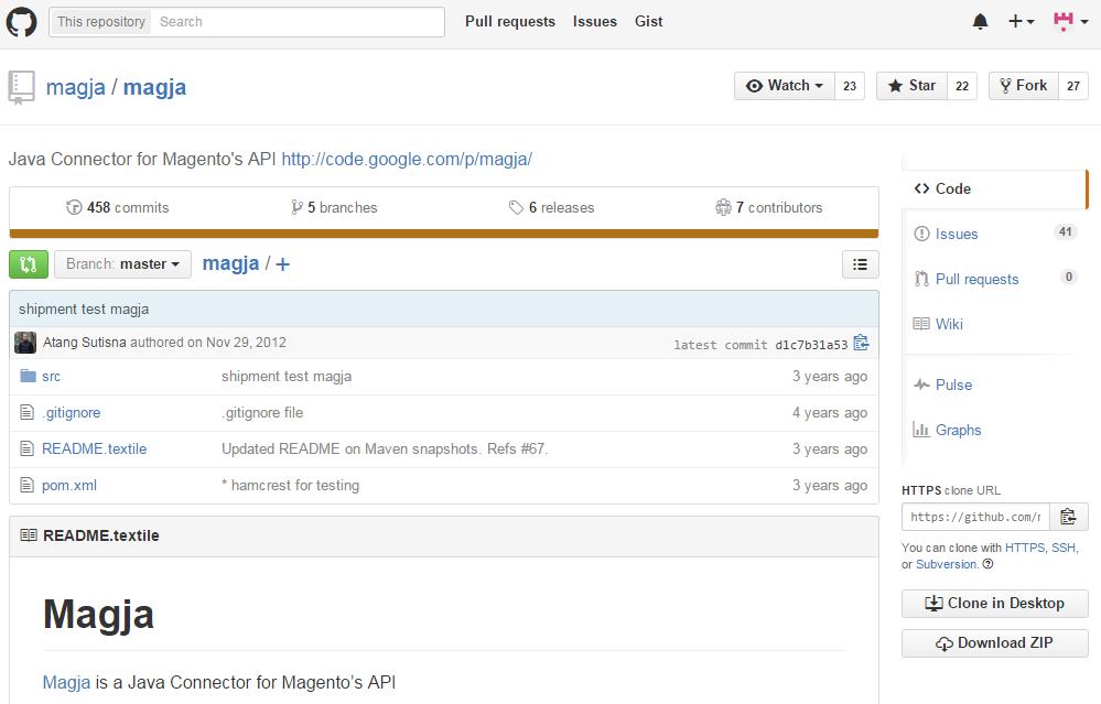 Magja - API Wrapper for Magento