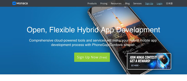 Tools for Hybrid Application Development: Monaca