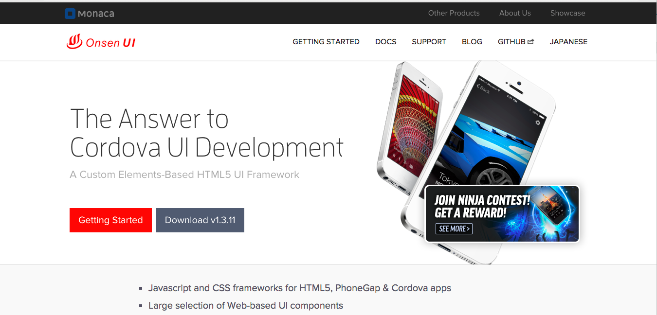 Tools for Hybrid Application Development: Onsen UI