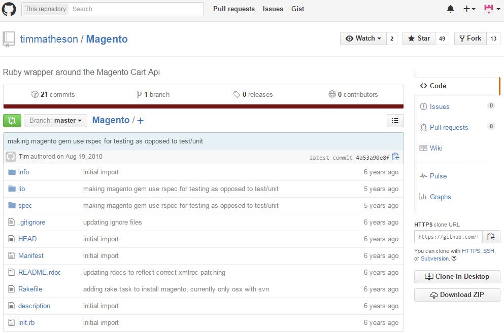 Magento API wrapper for Ruby